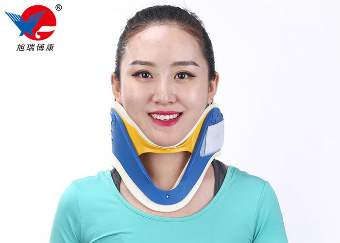 Waterproof First Aid Cervical Collar Neck Brace , Blue And White Rigid Plastic Cervical Collar